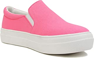 Soda TOPSHOE ave- Hike Platform Slip- On Sneaker w/Cushion Foam