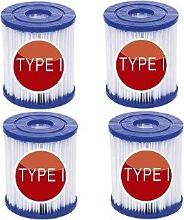 XIAOL For Bestway - Cartucho de filtro para piscina Bestway 58381 tipo I, 8,0 cm x 9,0 cm, accesorios de filtro flowclear, filtro de cartucho para limpieza de piscina (4 unidades)
