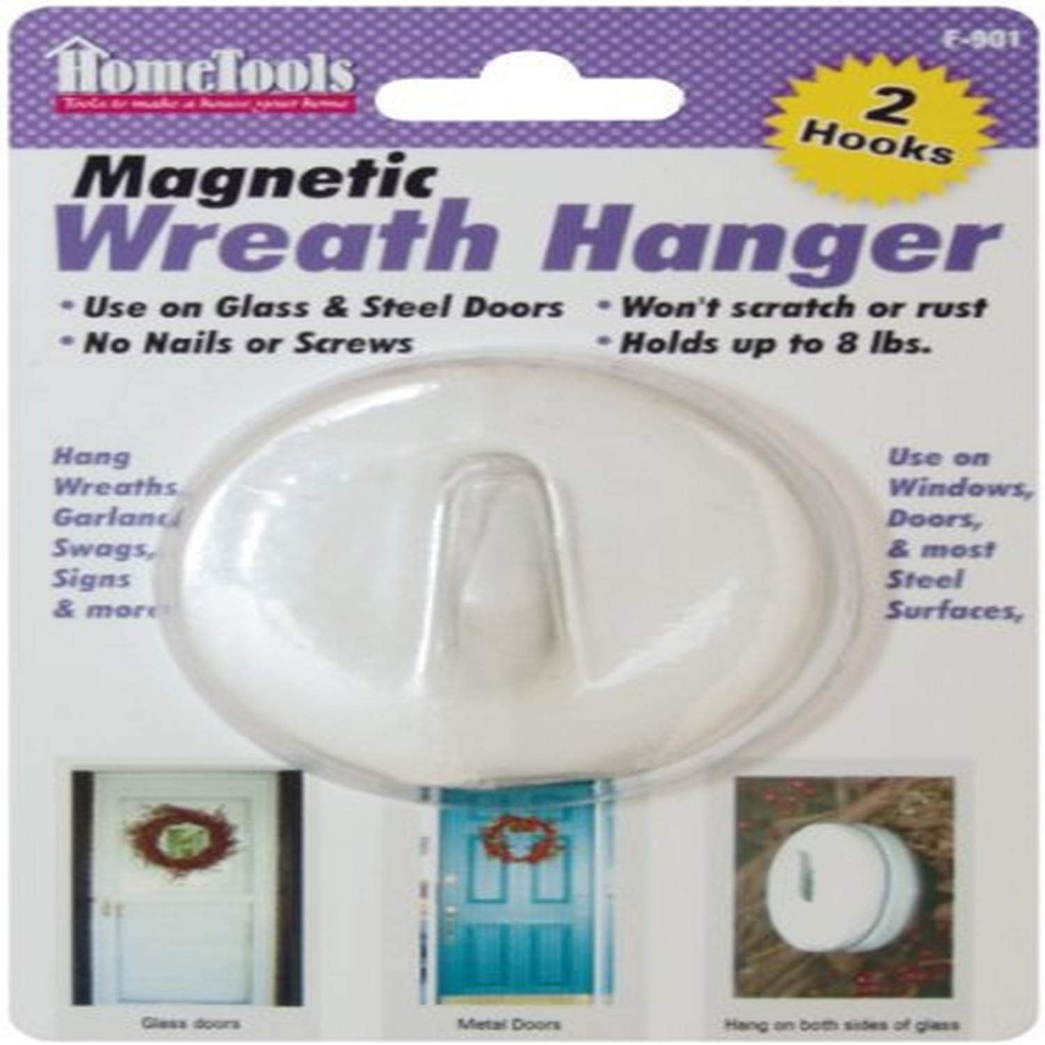 F-901 Magnetic Wreath Hanger Max 68% OFF - 2-1 2