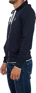 A|X Armani Exchange mens Basic Zip up Hoodie with Chest Logo Hooded Sweatshirt