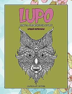 Libri da colorare per adulti - Mandala Anti stress - Animale capriccioso - Lupo