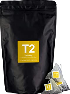 T2 Tea Earl Grey Black Tea in Resealable Foil Refill 60 Teabags, 1 x 60 Count
