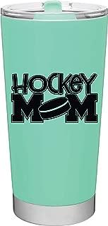 20oz Hockey Mom Travel Mug with Lid by MugHeads - Double wall vacuum insulation keeps coffee hot up to 8 hours (Mint)