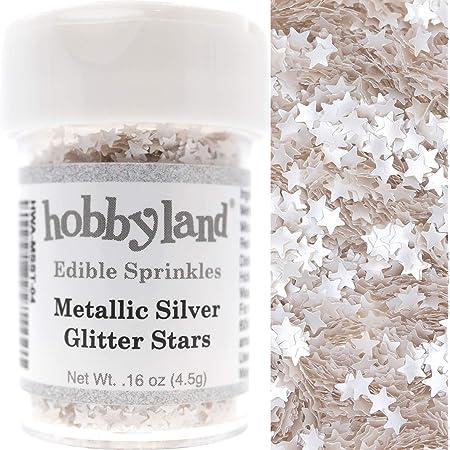 3.8 oz Wilton Pearlized Silver Sprinkles Edible Silver Glitter