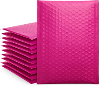 Fuxury Fu Global 6x10 Inch Pink Poly Bubble Mailer, 25pcs #0 Self Seal Padded Envelopes, Bubble Lined Wrap Bags for CDs & ...