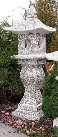 Japanische Laternen Gartenlampe Gartenlicht Deko Steinguss 56 cm Oki-Gata S607