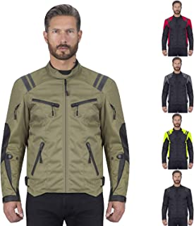 Viking Cycle Ironborn Motorcycle Textile Jacket For Men (Military Green, Small)