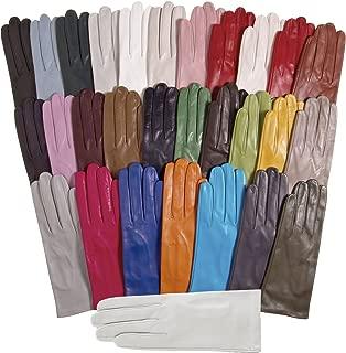 Women's Italian Silk Lined Leather Gloves