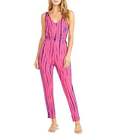 BB Dakota x Steve Madden Day Tripping Jumpsuit Knit Tie-Dye Jumpsuit (Raspberry) Women