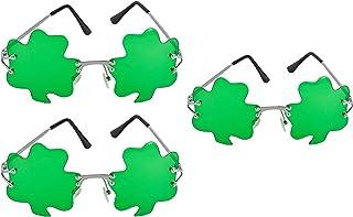 ef301cb5 ST. Patricks Day Green Shamrock Irish Clover Metal Frame Sunglasses - 3 Pack