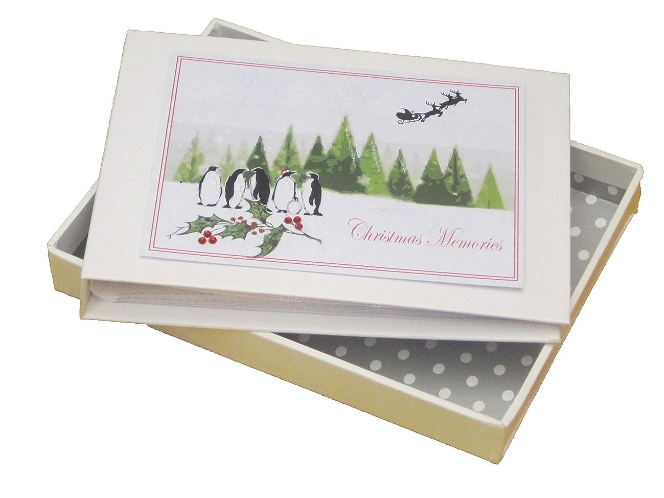 white cotton cards XT4T Christmas Memories Flying Santa and Cute Penguins Photo Album
