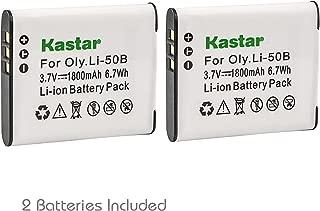 Kastar 2 Pack Battery for Olympus LI-50B LI-50C & Olympus XZ-1 SZ-30MR SZ-10 SZ-11 SZ-20 SP800UZ Stylus Tough-6020 Tough-8010 Tough-6000 Tough-8000 Tough TG-810 1030 SW TG-610 SZ10 Tough 8000 TG810