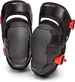 Prolock Impact-Absorbing Gel Knee Pads with Thigh Stabilization, Ideal for Flooring/Roofing,  Adjustable (1 pair)