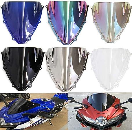 per Suzuki GSX-R1000 Deflettore a doppia bolla per moto GSX-R 1000 K5 2005 2006 parabrezza