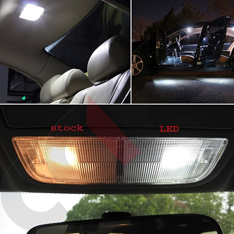 OCPTY 17 Pack White Accessories Replacement Package Kit Replacement fit for 2002-2009 Chevy Trailblazer LED Bulb LED Interior Lights