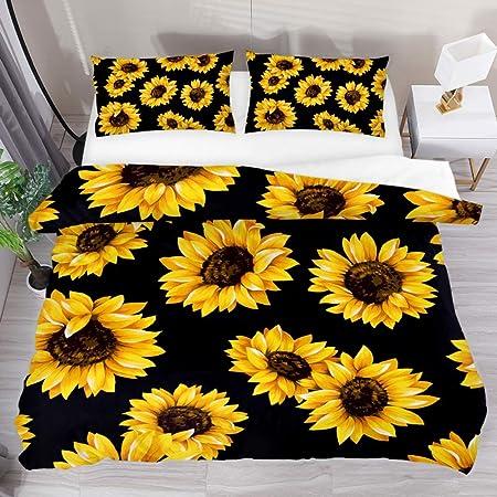 Beautiful Yellow Oil Painting 3D Quilt Duvet Doona Cover Set Pillow case Print
