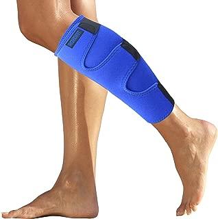 Calf Brace - Shin Splint Support for Calf Pain Relief Muscle Tear Strain Sprain Shin Splints Tennis Leg Calf Injury. Best Compression Lower Leg Brace for Men Women. Calf Compression Sleeve Running