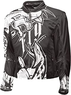 Fly Racing Flux Air Mesh Jacket - Ink 'N Needle (Small) (Black/White)