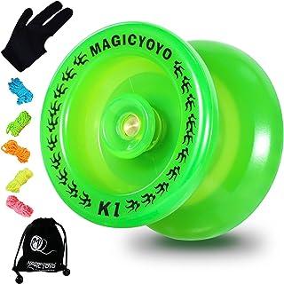 MAGICYOYO Responsive Yoyo K1-Plus Glow in The Dark, Durable Plastic Yoyo for Beginner Kids, Hubstack Basic Yoyo with Narro...