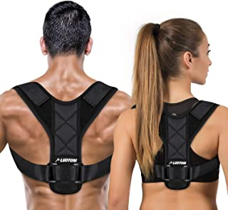 LUDTOM Posture Corrector for Men and Women, Upper Back Posture Brace for Clavicle Support, Adjustable Back Straightener, Providing Pain Relief from Neck, Back and Shoulder(Universal)