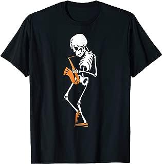 Saxophonist Skeleton Play Saxophone Halloween Costume Shirt