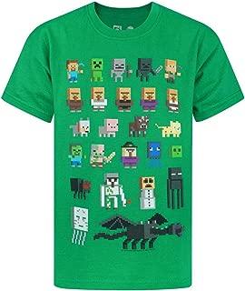 Vanilla Underground Minecraft Sprites Boys Green T-Shirt