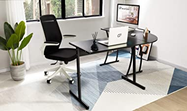 """GreenForest L Shaped Office Desk 58.1"""" Home Corner Gaming Desk Writing Studying Computer Table PC Workstation for Home Of"""
