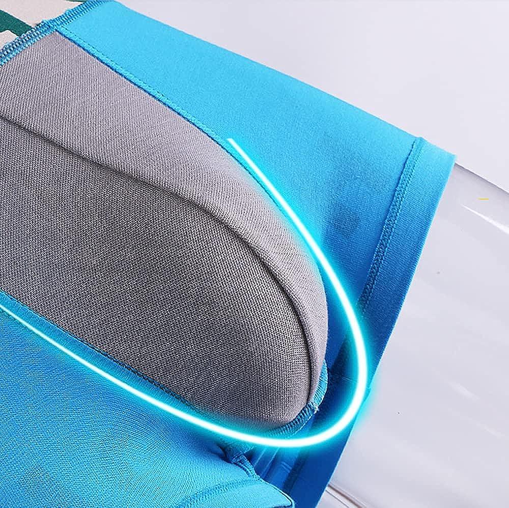 Pack of 3 Men's Boxer Briefs Solid Color Pure Cotton U-Convex Breathable Mid-Waist Boxer Briefs