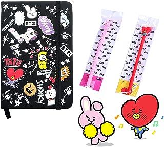 BTS Notebook with Pens   BTS School Supplies, Cartoon BTS Journal Notebook, BTS Pen for School   Pocket Size, Hardback Cover Book, Ballpoint Pen - eKoi BTS Merchandise for Army ( TaTa Cooky Set)