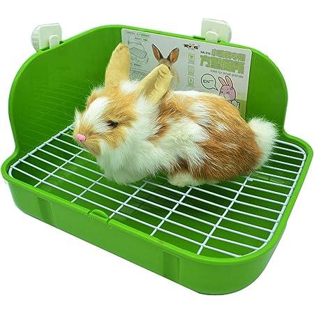 RRunzfon 1 Pack Tri/ángulo Orinal Esquina lecho de Paja Caja de Pan para Mascotas Conejo Peque/ños Animales Conejillo de Indias de Chinchilla Jaula aleatoria ColorBreathable Mascota