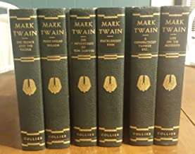 Mark Twain 6 Volume Set collection 1920. Includes the Adventures of Tom Swayer, Huckleberry Finn, the Prince and the Pauper, Pudd Nhead Wilson, Life on the Mississippi, a Connecticut Yankee Etc.