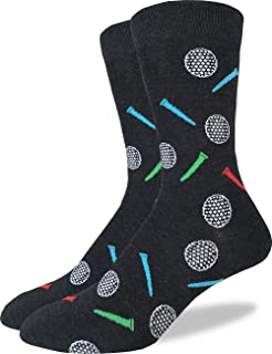 Good Luck Sock Men's Golfing Crew Socks - Grey, Adult Shoe Size 7-12