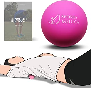 Sports Medica Doctor Developed Lacrosse OR Peanut Massage Ball - Perfect for Trigger Point Therapy, Injury, Recovery - The Mobility Handbook and Video Series Included