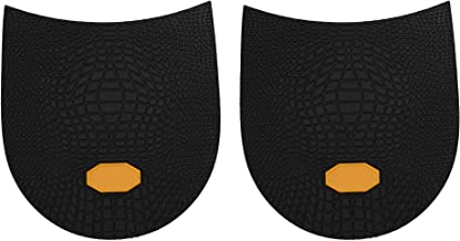 Beautyflier 1 Pair of 6mm Thick Men Shoe Replacement Anti Slip Rubber Heels Repair Top Lifts Black