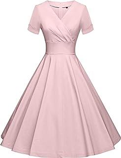 فساتين حفلات الكوكتيل المتأرجحة بأكمام 3/4 بتصميم الخمسينيات من GownTown مع جيب
