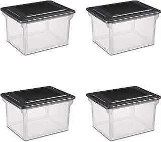 STERILITE 18689004 Storage File Box, 4-Pack (Renewed)