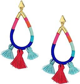 Rebecca Minkoff Tubular Thread Wrapped Earrings