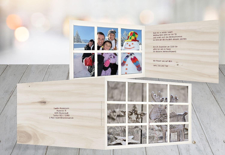 Kartenparadies Einladungskarte zu Weihnachten Foto Einladung Holzelch, hochwertige Weihnachtseinladung Weihnachtseinladung Weihnachtseinladung zum Selbstgestalten (Format  148x105 mm) Farbe  WeinRot B01NH7GBQX | Attraktive Mode  | Kompletter Spezifikationsbereich  | Moderater Preis  857844
