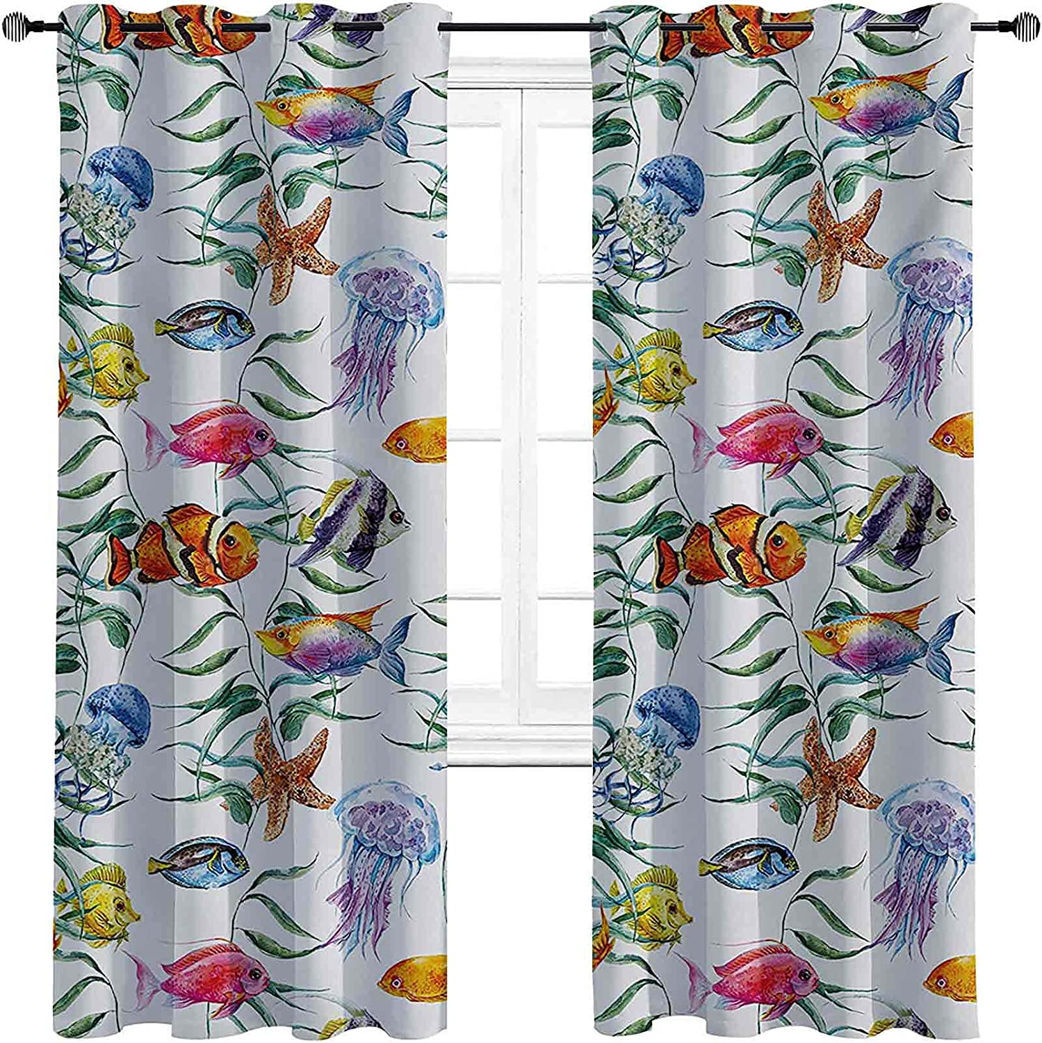 Max 61% OFF with Grommets blackoutJellyfish Ranking TOP5 Curtain Coral Reef Tropical wit