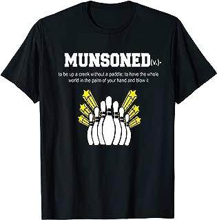 Munsoned King Pin Amusing Bowling T-Shirt