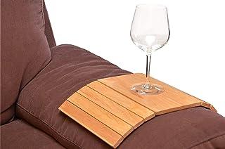 Set di 2 eleganti sottobicchieri pieghevoli in legno per bracciolo e poltrona, protezione del sedile – ideale per tazze da...