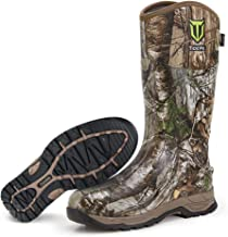 TIDEWE Rubber Hunting Boots, Waterproof Insulated Realtree & Mossy Oak Camo Warm Rubber Boots with 6mm Neoprene, Durable O...