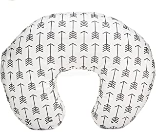 Org Store Premium Nursing Pillow Cover | Slipcover for Breastfeeding Pillows (White w/Gray Arrows)