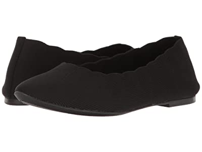 SKECHERS Cleo Bewitched Engineered Knit Skimmer (Black) Women