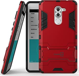 Huawei Honor 6X Case, Huawei Mate 9 Lite Case, CoverON [Shadow Armor Series] Hard Slim Hybrid Kickstand Phone Cover Case for Huawei Honor 6X or Mate 9 Lite - Ruby Red