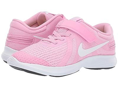 Nike Kids Revolution 4 FlyEase (Little Kid) (Pink Rise/White/Pink Foam) Girls Shoes