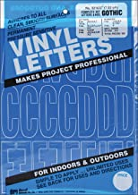 Graphic Products Permanent Adhesive Vinyl Letters and Numbers, 3-Inch, Blue, 160/pkg