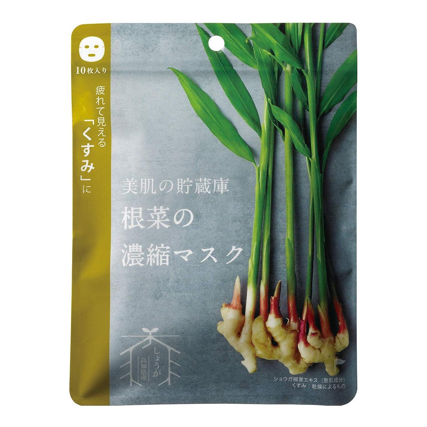 ペナルティ急行する阻害する@cosme nippon 美肌の貯蔵庫 根菜の濃縮マスク 土佐一しょうが 10枚 160ml