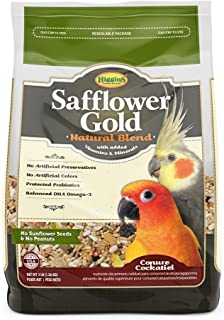 Higgins Safflower Gold Conure & Cockatiel Bird Food. 3 lb. Bag. Conure Food, Cockatiel Food
