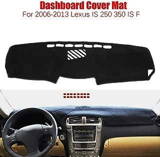 BLACKHORSE-RACING Fit 2006-2013 Lexus is 250 350 is Dashboard Dash Dashmat Anti-Sun Pad Cover Mat